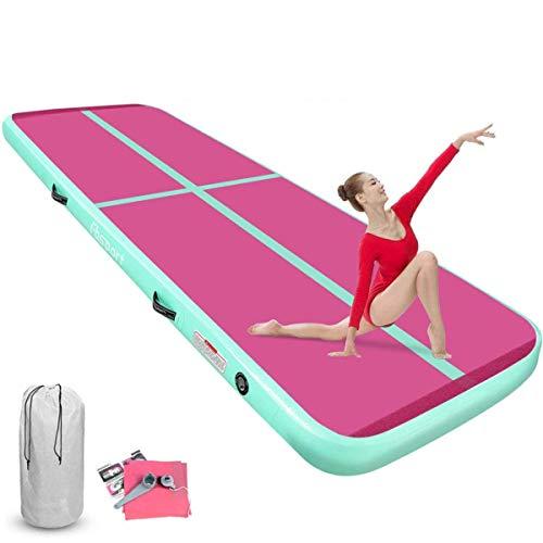 FBSPORT Pista de Aire para Gimnasia 4m de Longitud Airtrack Colchoneta Inflable, Inflable Tumbling Gymnastic de Entrenamiento Alfombrillas para Gimnasio/Yoga/Entrenamiento/niños/Deportes