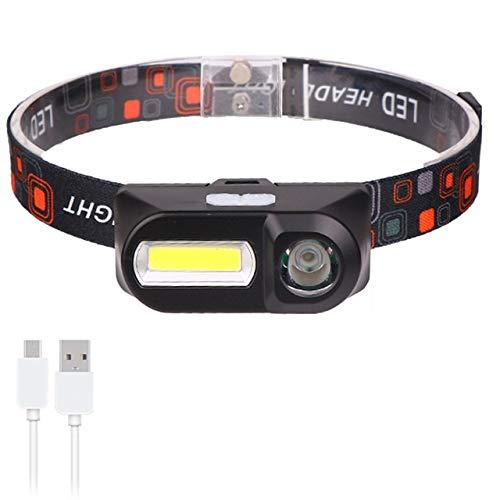 Linternas frontales Incorporado en el modo de luz LED 18650 faro de trabajo COB luz 2 con el juego del faro impermeable for la lámpara principal de la pesca iluminación ( Emitting Color : Package D )