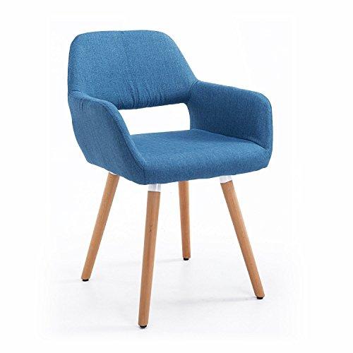 homcom Sedia Poltroncina Lounge MOD. Altena in Legno di Faggio 56 x 56 x 79cm Blu