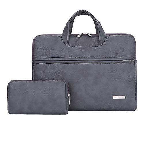 BSDK Waterdichte PU lederen Laptop tas voor Vrouwen 13 14 15 inch Laptop sleeve case voor Mannen