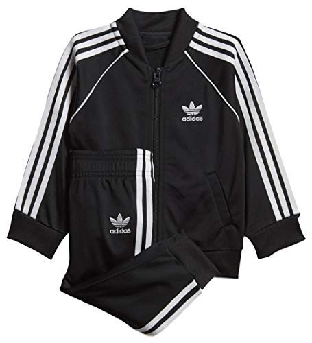 adidas Superstar Trainingsanzug für Babys, Unisex, Schwarz/Weiß, 80 (9/12 Monate)