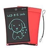 NEWYES 8,5' Tableta gráfica | Tableta de Escritura LCD | Tablet para niños | Ideal como Pizarra Digital para Aprender a Leer, Escribir y para Manualidades | Juguete Educativo (Rojo)