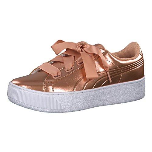 PUMA Damen Vikky Platform Ribbon P Sneaker, Pink (Dusty Coral-Dusty Coral), 40 EU