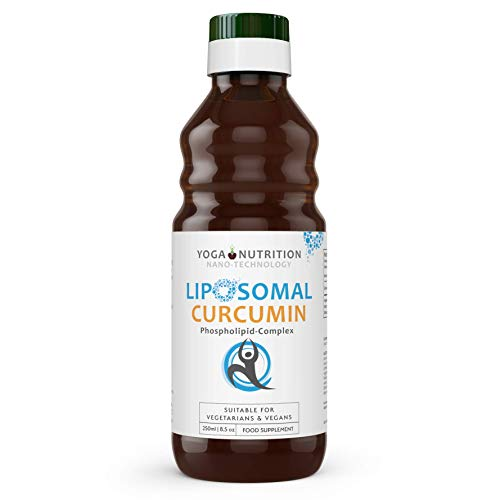 Liposomal Curcumin Liquid - 250ml - Liposomal for Optimal Absorption - No Artificial Preservatives - by Yoga Nutrition