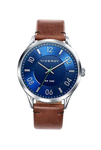 Viceroy Reloj Analogico para Hombre de Cuarzo con Correa en Cuero 401083-35