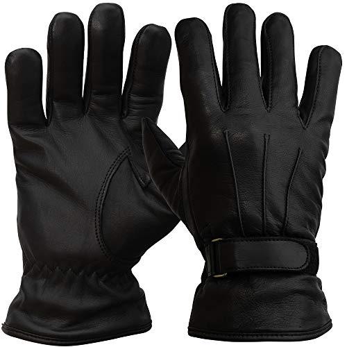 PzFst 8785 Polizei Premium Winter-Einsatzhandschuh mit 360 Grad Schnittschutz/rundherum schnitthemmend mit Spectra/Security Tactical Zugriffshandschuh Glattleder gefüttert