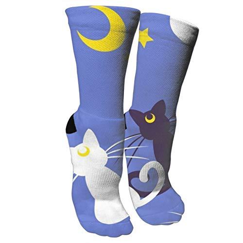 Calcetines de compresión atléticos de algodón de la tripulación calcetines de la pesadilla antes de la Navidad Casual Performance - rojo - talla única