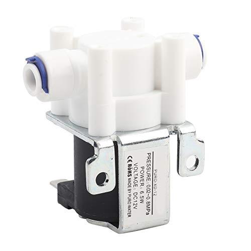 Válvula de agua, válvula solenoide eléctrica de 12 V CC, conexión rápida,...