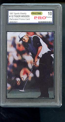 1997 Sports Weekly Promo #12 Tiger Woods Graded ROOKIE Golf Card PRO 10 PRISTINE