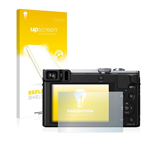 upscreen Entspiegelungs-Schutzfolie kompatibel mit Panasonic Lumix DMC-TZ71 – Anti-Reflex Bildschirmschutz-Folie Matt