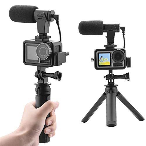 Protección de la cámara de acción, cámara deportiva, micrófono para accesorios Selfie, adaptador de audio USB-C de 3.5 mm, trípode con marco de protección para palos Selfie, trípodes, clips para mochi
