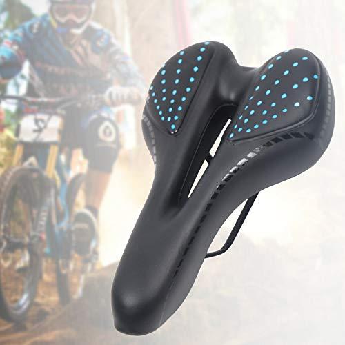 Berkalash Sillín de bicicleta de ciudad, de carretera, de gel, transpirable, amortiguador, adecuado para hombres y mujeres, bicicleta de carreras, bicicleta de montaña, bicicleta estática