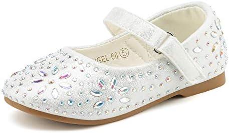 Dream Pairs ANGEL 66 Mary Jane Rhinestone Embelishment Throughout Velcro Strap Ballerina Flat product image