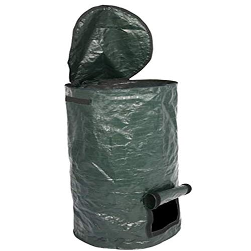 Find Bargain Garden Compost Bag, Garden Folding Compost Bin, Yard Leaf Waste Compost Bag Fruit Kitch...