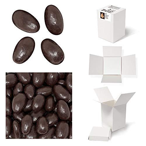 Bulk Gourmet Emporium - Geröstete Mandeln in dunkler Schokolade, kunststofffrei, vegetarisch und halalfreundlich, Nüsse mit Schokoladenüberzug, 420 g