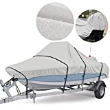 RVMasking 800D Oxford Upgraded Waterproof Trailerable Center Console Boat Cover