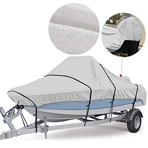 RVMasking Upgraded 800D Waterproof Center Console Boat Cover, Heavy Duty Boat Cover for Center Console Boat (Length:17