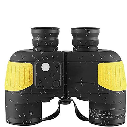 GGBLCS Binoculares para Adultos, 7X50 con Visión Nocturna Brújula Rangefinder Hiedra A Prueba De Niebla A Prueba De Agua Bak4 Prisma Lente para Navegación, Caza, Observación