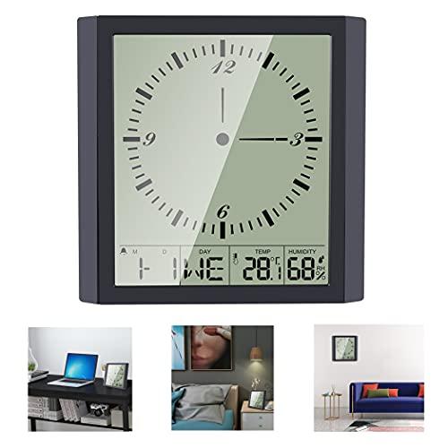 Reloj despertador digital para dormitorio Aceshop Reloj de pared analógico LED grande...