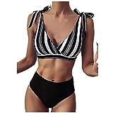 TSP Conjunto de bikini bandeau para mujer con vendaje push-up brasileño, traje de baño de playa sexy...