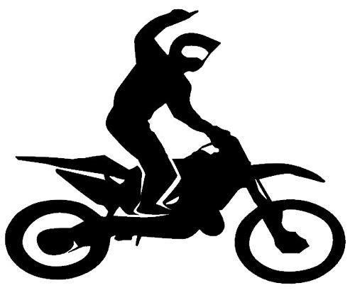 Generic 128/1/3 Autocollant pour Moto Motif Motocross 10 cm, 15 cm, 20 cm, 25 cm - 20cm - Gris foncé Mat