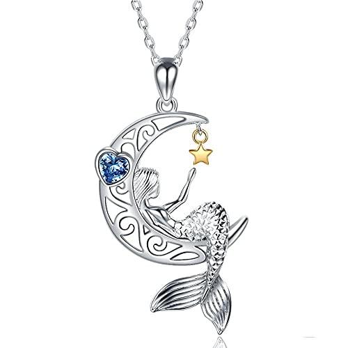 XQAQW 925 Sterling Silver Ballet Colgante Elegante Cadena Alas de Ensueño Buscar Collar de Danza de Cisne de Mujer -3_40Cm_and_5Cm