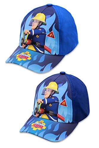 Feuerwehrmann-Sam Kinder Kappe Baseball-Cap Mütze Sommer-Hut, Größe:54, Farbe:Dunkel-Blau