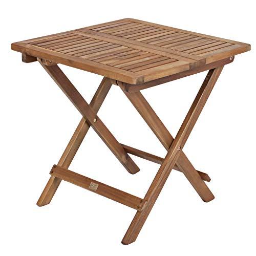 H4L Multistore 2002 - Mesa plegable de jardín (madera de acacia, 50 x 50 cm)