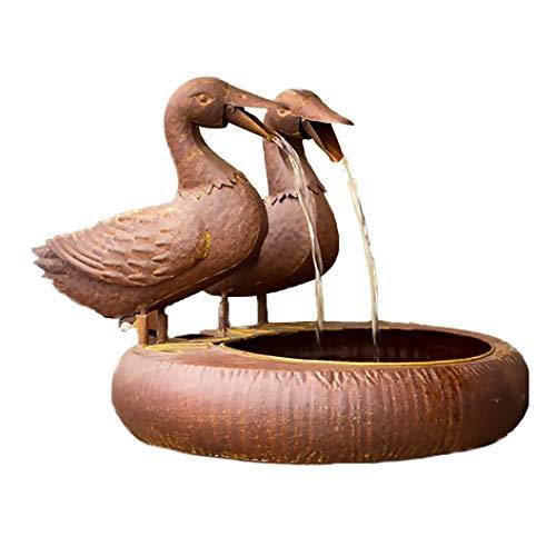 Folk Art Duck Fountain - Spitter with Pump (Duck)