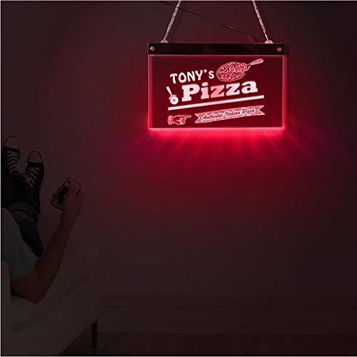 Wangzhuoyue Autentica Pizzeria Italiana Scheda Acrilica A Led Nome Personalizzato Pizza Lighting Decor Art Personalized Pizzeria Led Neon Sign