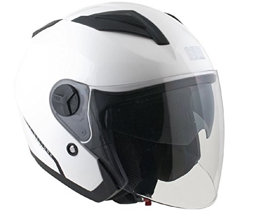 CGM Casque Jet 130A Daytona Taille Blanc, Taille XS