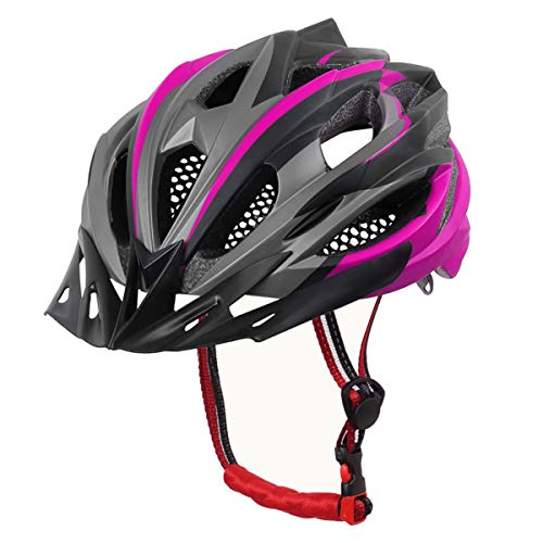 X-TIGER Fahrradhelm MTB Mountainbike Helm mit Abnehmbarem Visier Mountain Road Fahrrad MTB Helme Einstellbare Fahrradhelme für Erwachsenen Herren Damen (Pink)