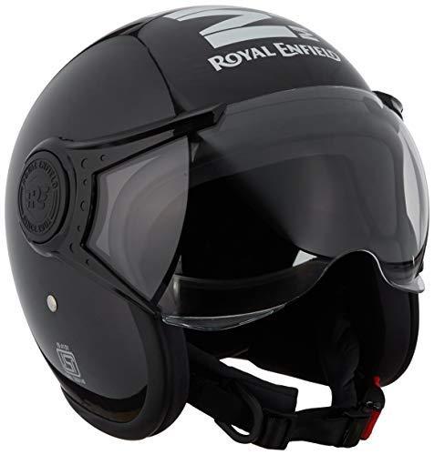 Royal Enfield Marble Open Face with Visor Helmet Gloss Black (M) 58 cm(RRGHEH000028)