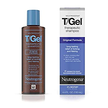 Neutrogena T/Gel Therapeutic Shampoo Original Formula Anti-Dandruff Treatment for Long-Lasting Relief of Itching and Flaking Scalp as a Result of Psoriasis and Seborrheic Dermatitis 4.4 fl oz