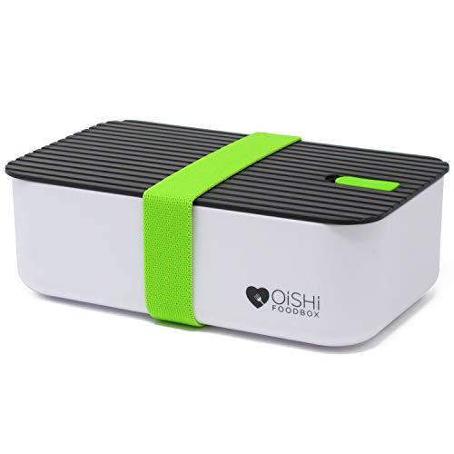 OISHI LUNCHBOX TASTY - Bento Lunch Box 1000ml - Dicht & Auslaufsicher für Kinder & Erwachsene - Büro & Schule - BPA-Frei - Brotzeit Dose für Spülmaschine Mikrowelle & Gefrierschrank