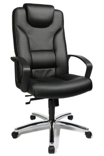 Topstar 7819D60 Silla de Oficina para ejecutivos Comfort Point 50, Cuero Artificial Color Negro