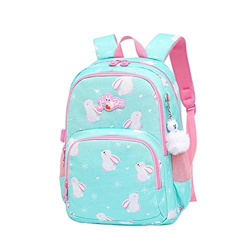 YUANLIN Mochilas Escolares Mochila Escolar Bolsos de impresión de Conejo de Dibujos Animados para niñas 2020 Backpack de Viaje Bolsas de Libros Mochilas Escolares Juveniles (Color : 5)