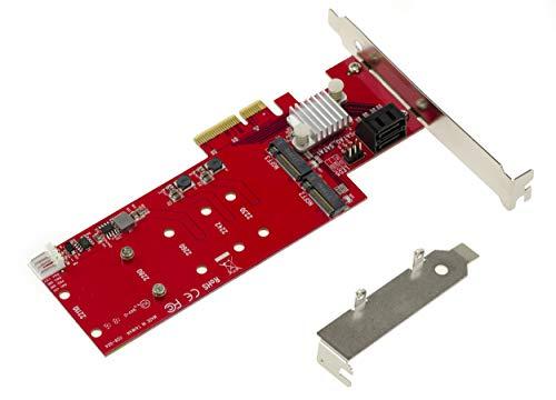 KALEA-INFORMATIQUE Karte Controller PCIe m.2NGFF (2Ports für SSD M2Typ SATA) und SATA 3.0(2Ports)–Funktionen Hybrid und RAID 0/1/10–Professionelle/Windows Mac Linux