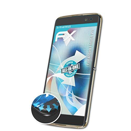 atFolix Schutzfolie kompatibel mit Alcatel Idol 4 Pro Folie, ultraklare & Flexible FX Bildschirmschutzfolie (3X)