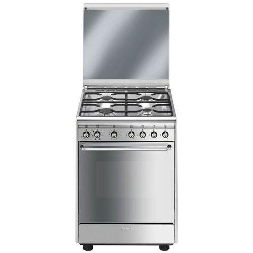 SMEG CX60SV9 Estetica Classica Cucina A 4 Fuochi Gas Forno Elettrico Multifunzione Classe A Dimensione 60 X 60 Cm Colore Inox