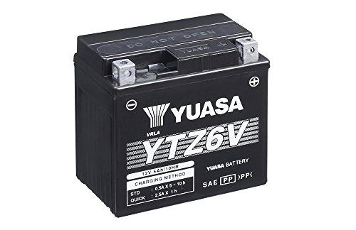 Motorrad Batterie YUASA YTZ6V, 12V/6AH (Maße: 113x70x105)