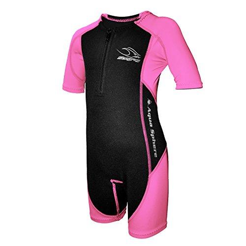 Aqua Sphere Stingray Schwimmanzug Neopren für Kinder schwarz/pink,XXL-152-12 Jahre