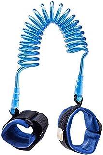 سوار معصم لحماية الاطفال من الضياع اثناء المشي، حزام معصم مزود بحبل حزام يد للصغار والاطفال (1.5 م بلون ازرق)