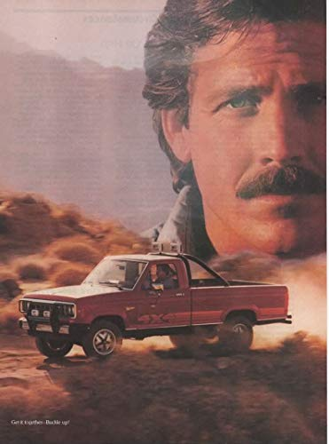 Set of 2 Original Magazine Print Ads: 1985 Ford Ranger 4X4 Pickup Truck 2.3L Engine,'Tough Team to Beat','Survival of the Fittest. And the most Powerful'