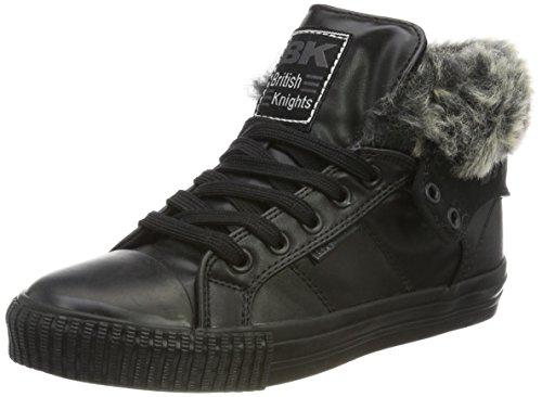 British Knights Roco, Baskets Hautes Femme, Noir (Fur Fabric Black/Black 03), 41 EU