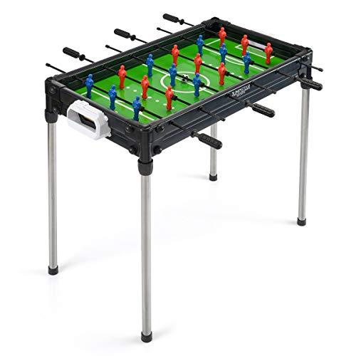 JUMPSTAR SPORTS Football Table, Kids Indoor Foosball Game, Freestanding & Tabletop Design, L81cm x W41cm x H70cm