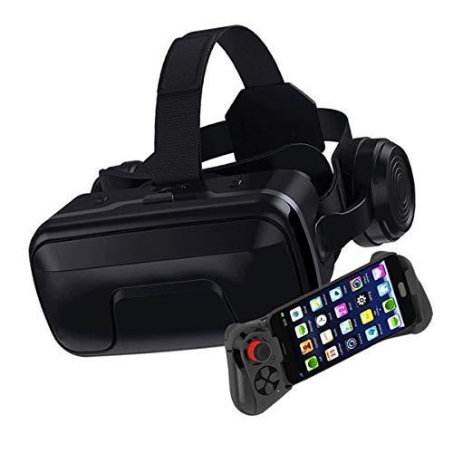 VR Brille Handy Virtual Reality Brille VR Headset für 3D Film und Spiele für iPhone 12/11/Pro/X/Xs/Max/XR/Mini/8/7/6 für Android Samsung S/20/10/9/8/Plus/Note Smartphone