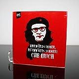 DStern Design Che Erich Honecker SED DDR - Der Glas-Untersetzer für Revolutionäre | Dekoration | Untersetzer für Gläser | besondere Geschenkidee | Ostalgie...