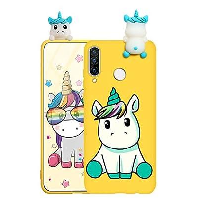 ZhuoFan Funda para Samsung Galaxy A20e, Cárcasa Silicona 3D Muñecas con Dibujos Colores Diseño Suave Gel TPU Antigolpes de Protector Case Cover Fundas Movil para Samsung Galaxy A20e, Unicornio 3