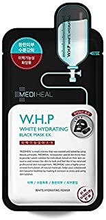 MediHeal, W.H.P White Hydrating Black Mask EX, 25ml, Pack of 10